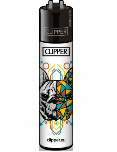 Clipper lighter with GEOMETRICAL ANIMALS pattern print 1