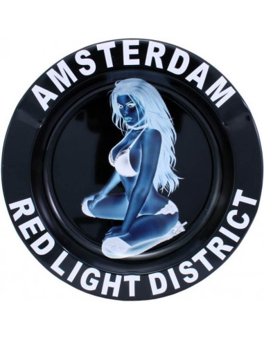 Amsterdam Red Light metal ashtray
