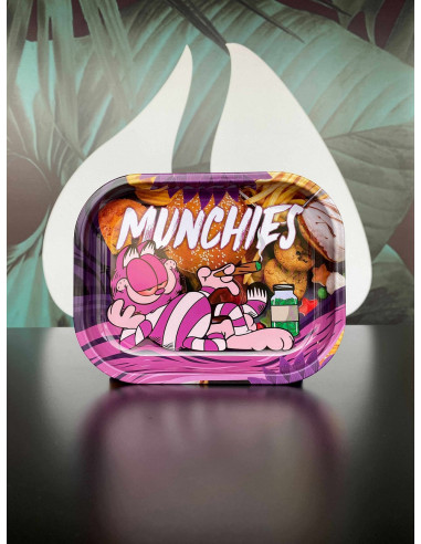Tacka do jointów Munchies Kot Garfield MAŁA 18x14 cm metalowa