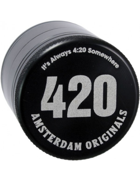 Młynek grinder Amsterdam 420 Aluminiowy 4 częściowy magnetyczny 40mm