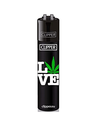 Clipper lighter with WEED STATEMENTS pattern 1
